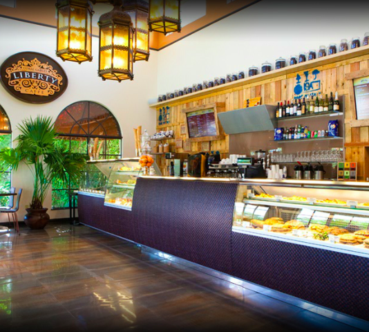 Liberty Caffé is filled with delicious meals and mouth-watering gelato.