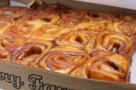 Visit Knaus Berry to try their famous cinnamon rolls.