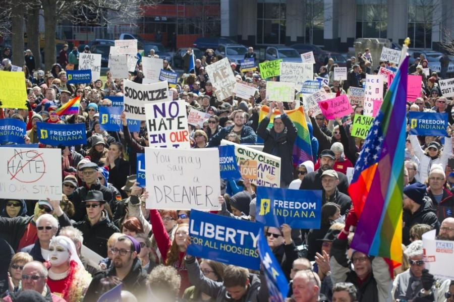 The controversial Religious Freedom Restoration Act has stirred many to protest and hope the law gets repealed.