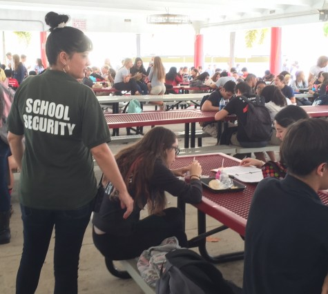 Security guards at school help makes students feel safe.