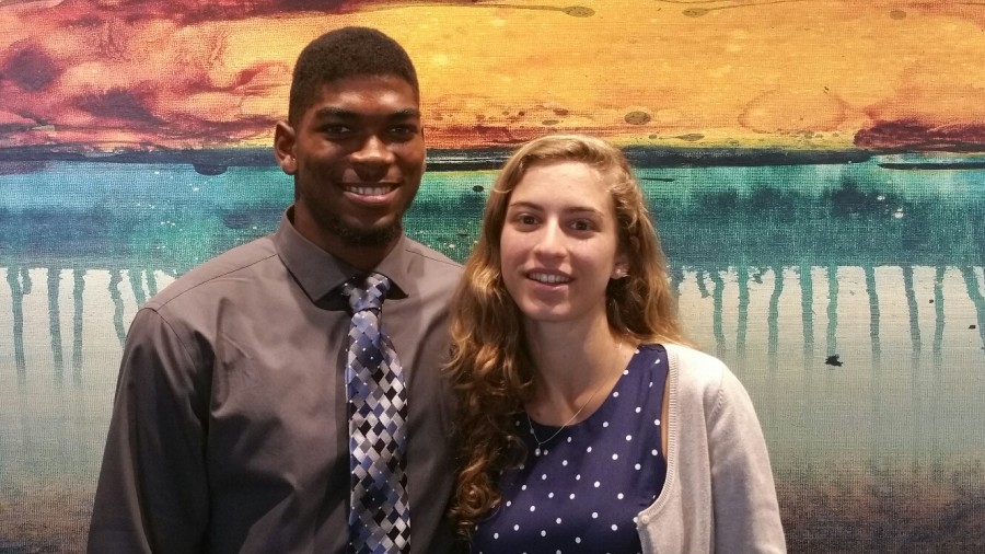 Marianna+Babboni+and+Eldrick+Clapp+are+our+2014-2015+Student+Athletes%21