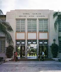 Pictured is Coral Gables High, taken in 1962.