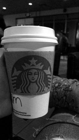 Senior Marla Chavez spent some time at Starbucks relaxing and talking with her sister.