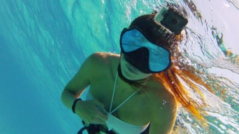 Document times spent at the beach with a Go Pro.