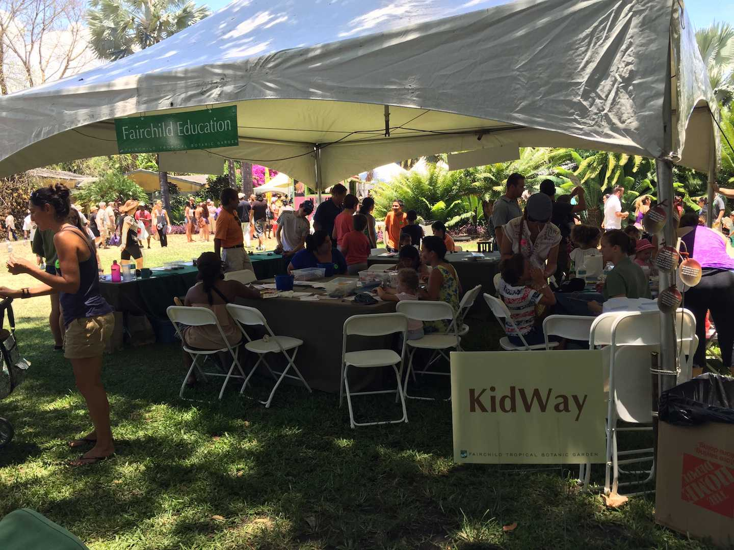 The children at Mango Fest got to learn at the Fairchild Education tent.
