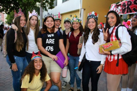Seniors rock their crowns to show others who's in charge.