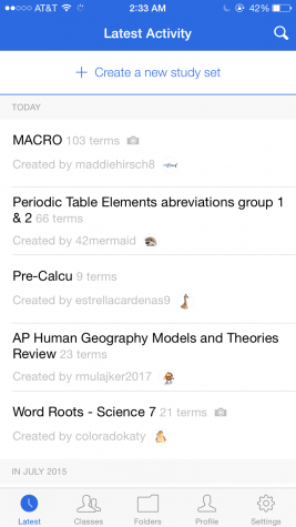 Quizlet let's you look at other user's study sets and let's you create your own as well.