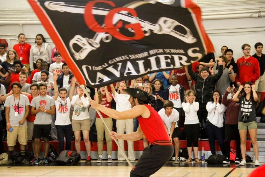 The Gables VS, Killian pep rally really pumped up the crowd with school spirit.