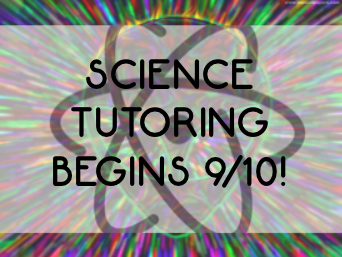 Tutoring will take place in room 2109 Mondays and Thursdays from 2:20 to 3:30.