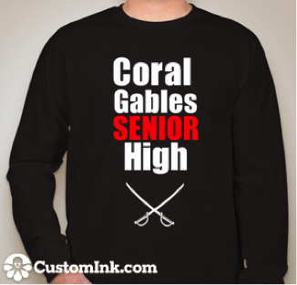 Just one of the many shirts seniors can order!