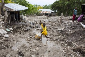Even with low winds Hurrican Erika caused mudslides in Haiti causing great detestation to its people's homes.
