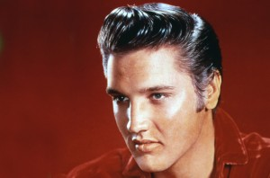 The typical hair style of the 50's is like that of Elvis Presley.