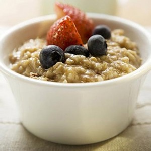 Oatmeal is a good source of energy, protein and good dietary fats.