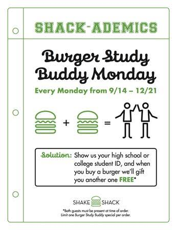Shake Shack Burger Study Buddy Monday