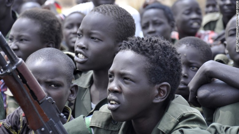 Countries that use child soldiers like South Sudan should not be sent military aid until they stop using child soldiers.