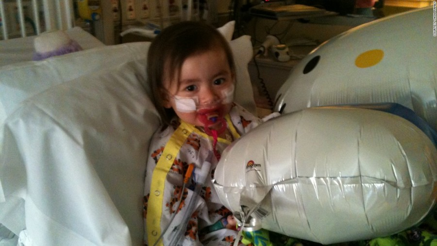 Snow had to spend 11 days in a intensive care unit because she was struggling to breathe.