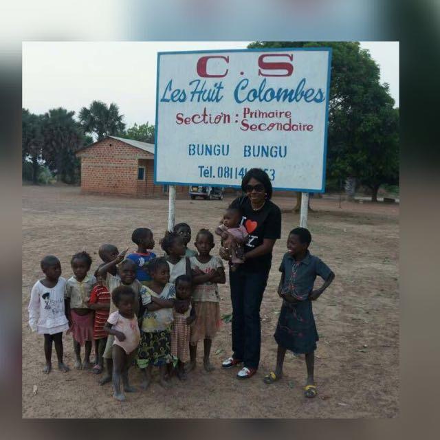 Jane Masungu's mother visiting the children that attend the school her mother built in a rural village near Masungu's town