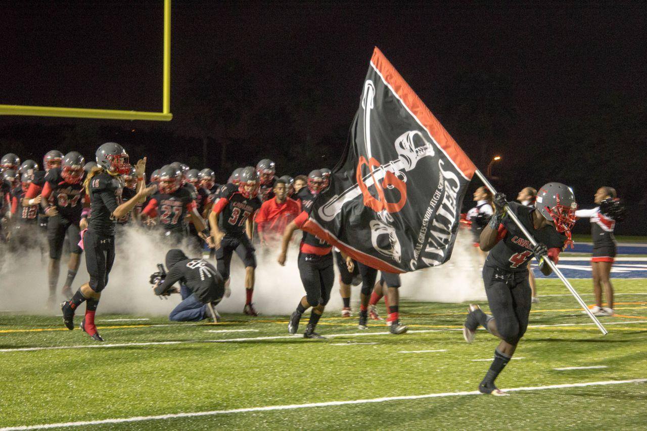The Gables football team remained undefeated throughout the regular season and won the District title.