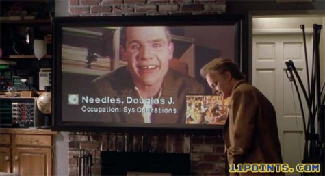 This image shows the movie's depiction of a video conference.