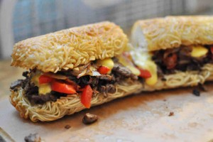 Take Ramen noodles to another level with this Ramen Hoagie.
