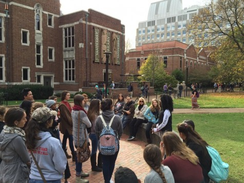 Students learn about all Vanderbilt has to offer.