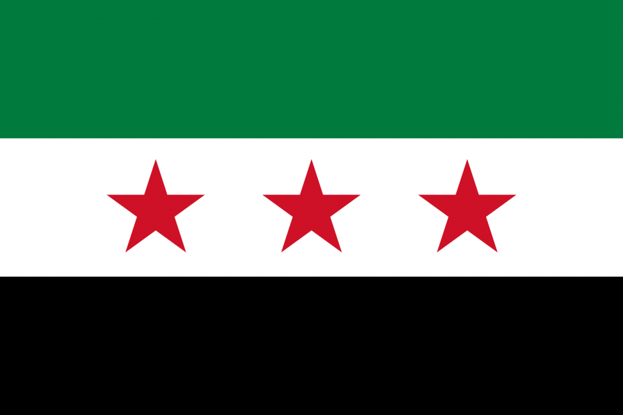The flag of the Syrian opposition.