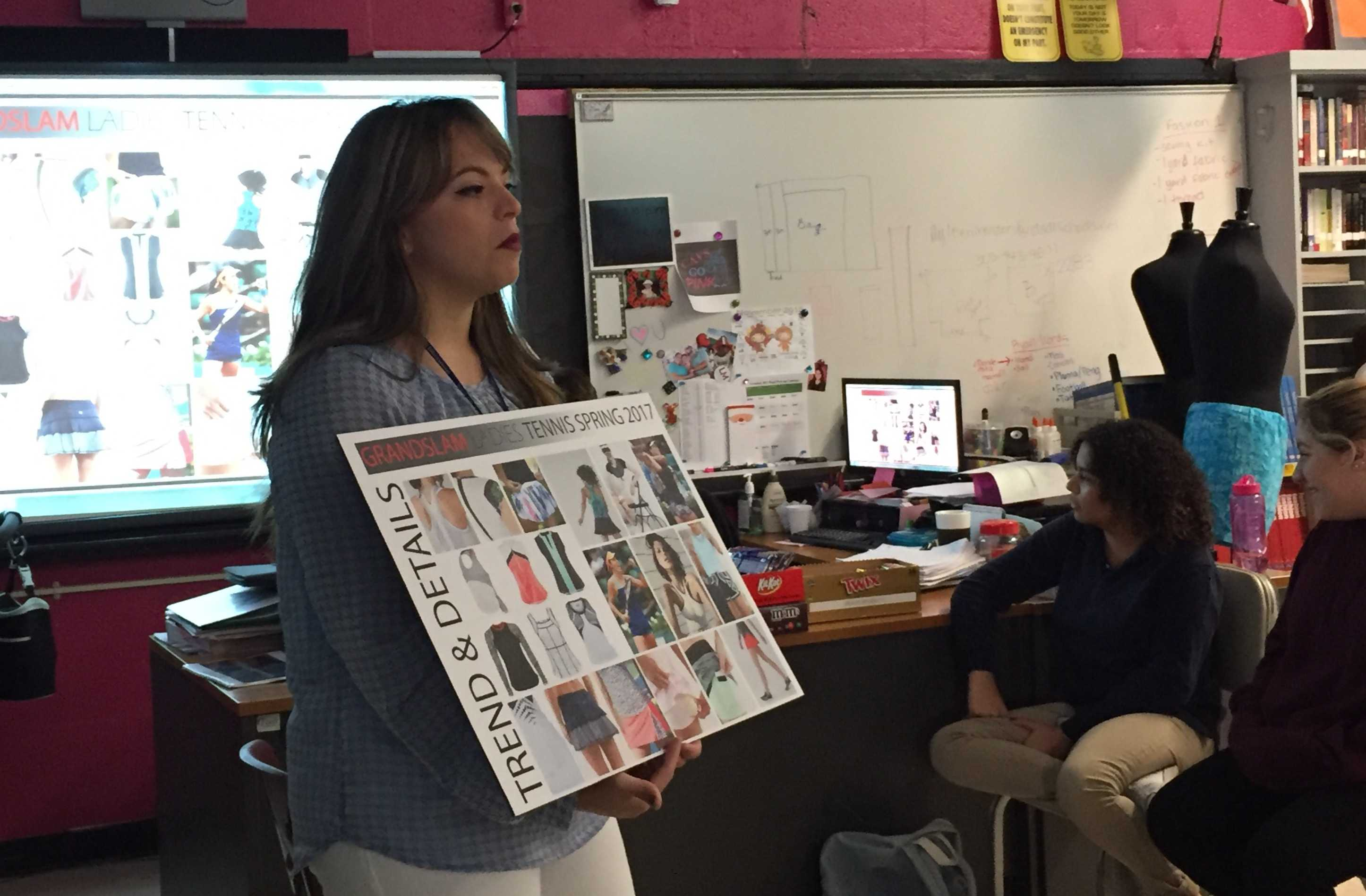 Perry Ellis fashion designer Natasha Rodriguez shares her expertise in the fashion industry with prospective students.