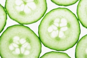 Cucumbers aren't just for puffy eyes, but for getting rid of acne too.