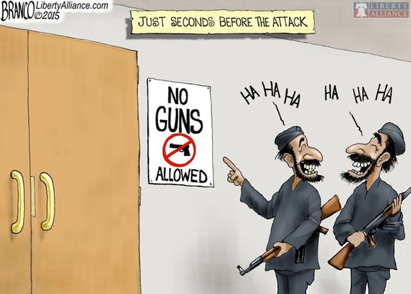 gun control there s no in between cavsconnect this comic displays how people are more likely to attack gun zones
