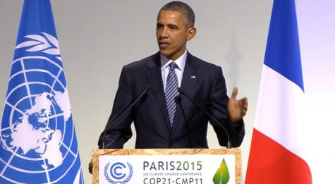 Obama discussing the importance of action regarding climate change.