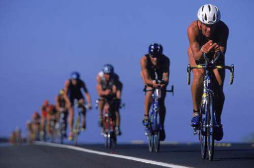 Triathlons are a great way to exercise.
