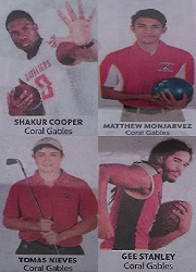 Congratulations to Shakur Cooper, Matthew Monjarez, Tomas Nieves and Gee Stanley for getting First Team All-Dade.