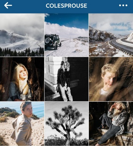 Cole Sprouse makes sure to always post pictures on his instagram, most of which are pictures that he takes