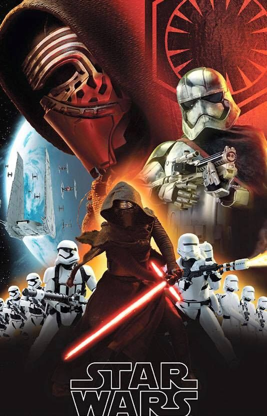 The title featuring the main villains, Kylo Ren and the First Order.