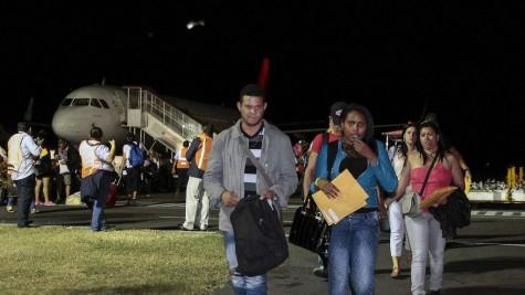 Migrantes Cubanos llegan a tierra de la libertad