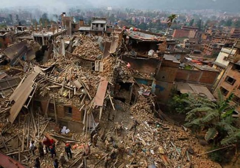 The aftermath of the earthquake that occurred in India, leaving 9 dead and others homeless.