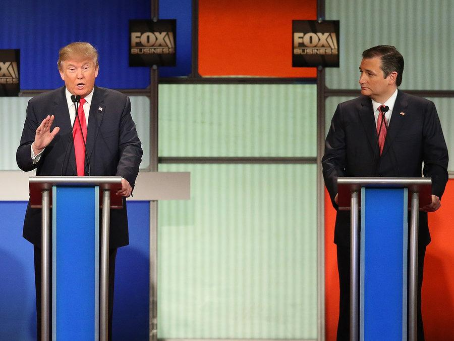 The first GOP debate of the year revolved around top candidates: Donald Trump and Ted Cruz.