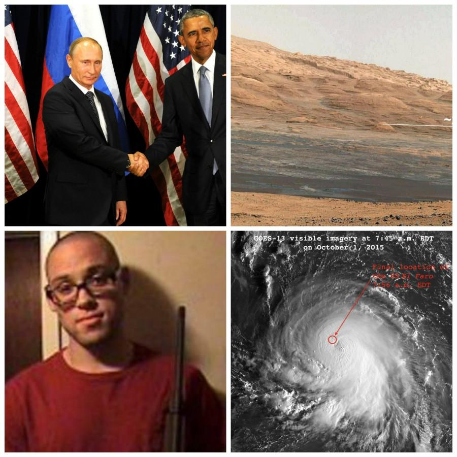 Putin and Obama meet, water on mars, Oregon shooting, US ship lost in hurricane and more this recap.