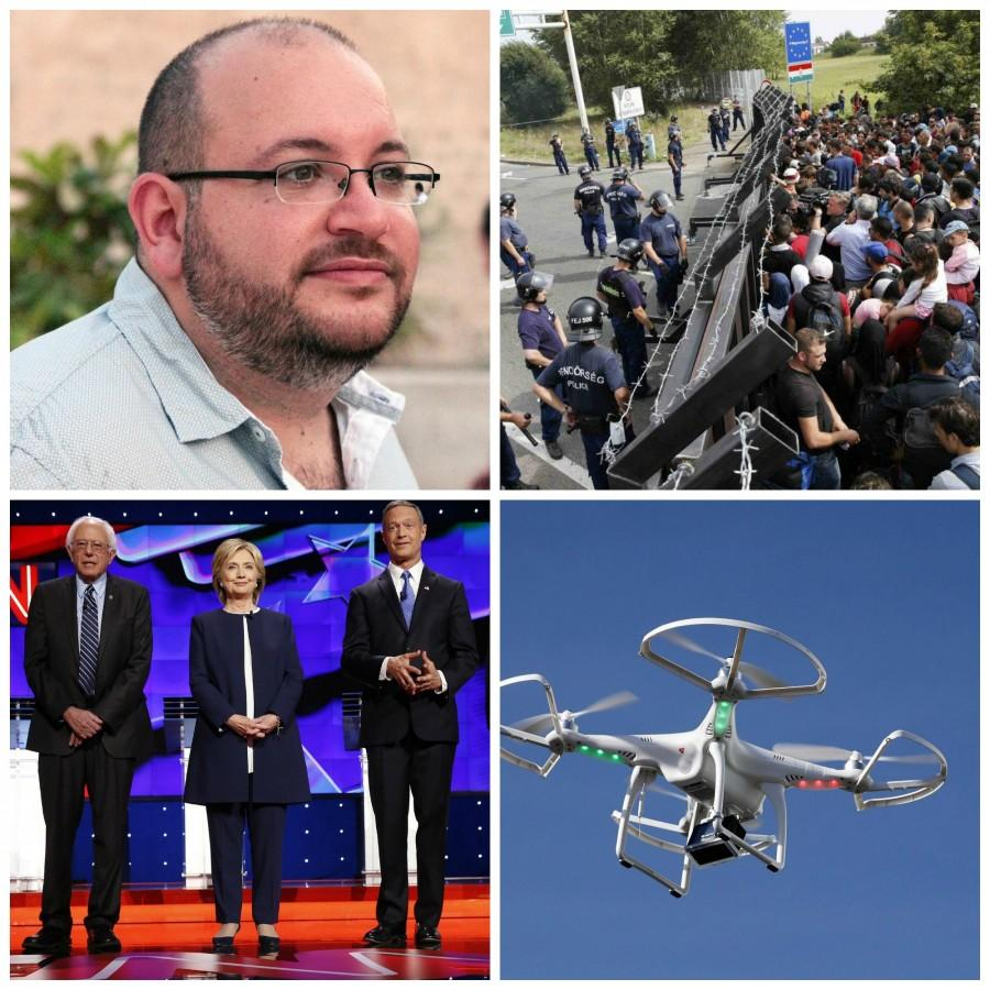 Rezaian reportedly convicted, Hungary closes border, the Democratic debate and US drone fears in this week's recap.