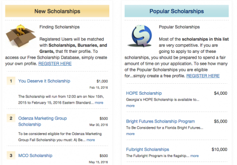 Explore new and popular scholarships with this site.