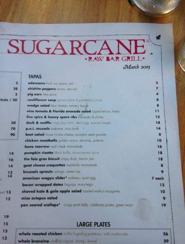 At Sugarcane Raw bar and Grill their speciality is tapas where they incorporate a little bit of everything into each plate.