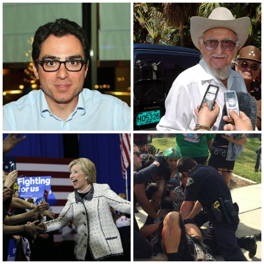 Siamak Namazi's, Iranian-American detained in Iran, father arrested, Ramon Castro dies, Hillary Clinton wins South Carolina and KKK clashes in California.