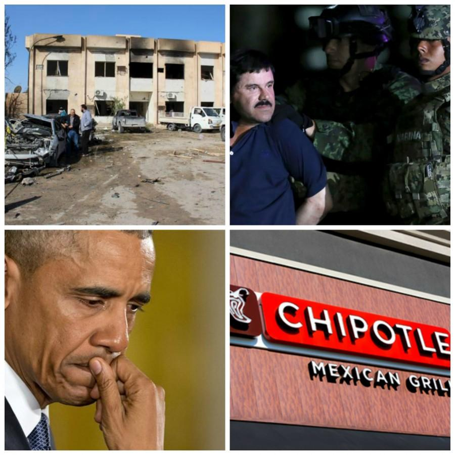 This week: bombing in Libya, El Chapo recaptured, Obama on gun control and Chipotle receives subpoena.