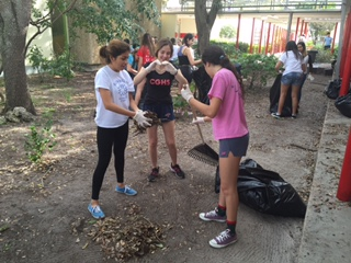 NHS Spends Saturday Cleaning Campus