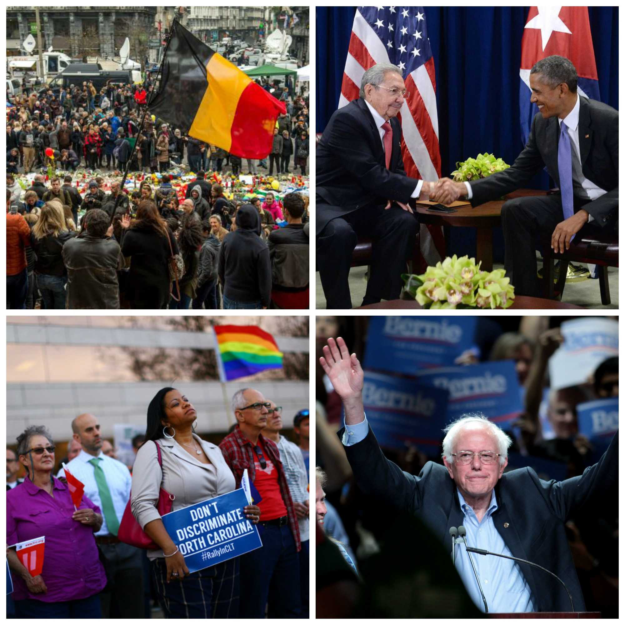This week: Brussels attack, Obama in Cuba, North Carolina's controversial law and Sanders sweeps in