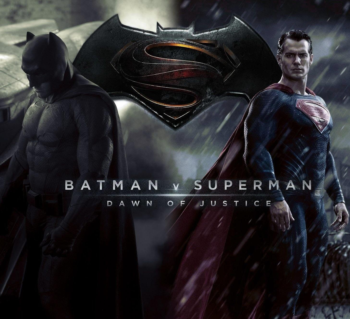 Here is the poster for the long awaited movie featuring Ben Affleck as Batman and Henry Cavill as Superman.