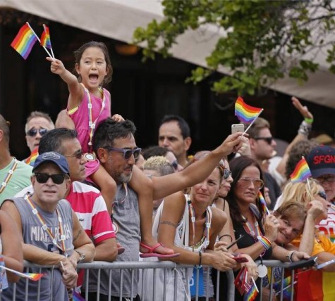 People of all ages were seen representing their prideful spirits at the parade.