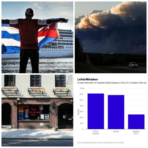 US cruise makes historic docking in Cuba, Canada wildfire growing, Stonewall Inn to become national monument and alarming study findings in this week's recap.