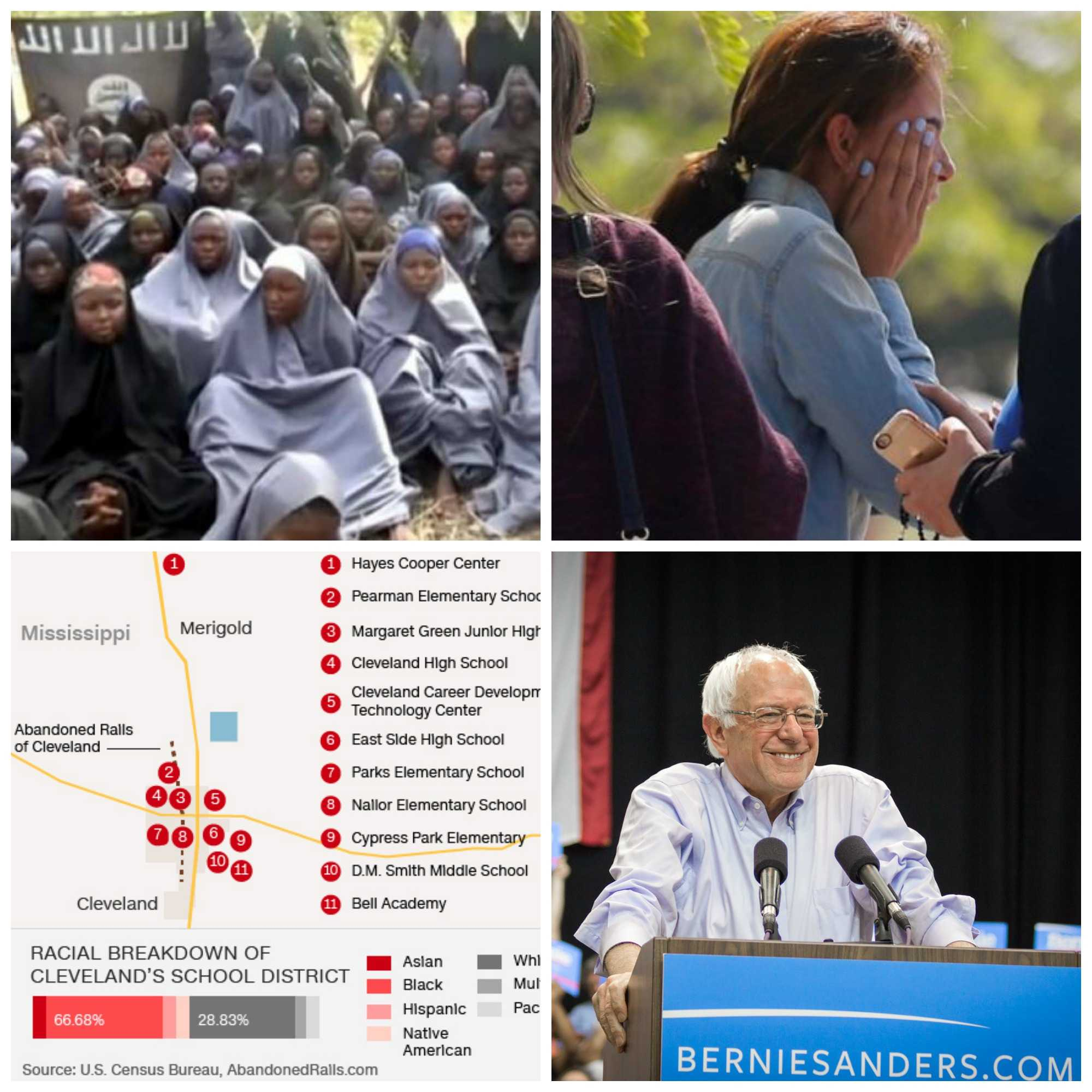 In news this week: Chibok girls found, Egyptair flight goes down in the Mediterranean, desegregation ruling in Mississippi and Sanders versus the DNC.