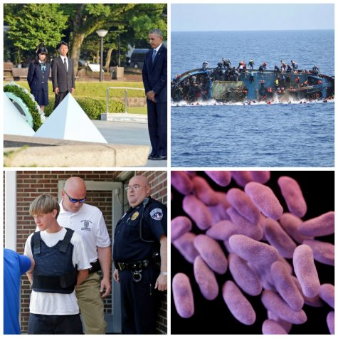 Obama visits Vietnam, migrant boats shipwreck, death penalty pursued for Dylann Roof and superbug reaches the US in this week's news.